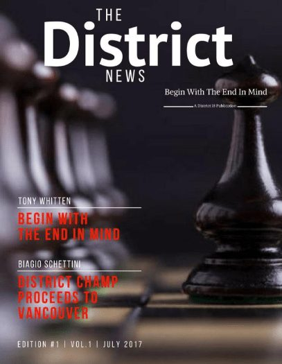 July Newsletter for District 18 Toastmasters