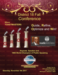 2017 Fall Conference Booklet