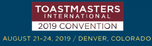 Toastmasters Int'l Convention 2019 Logo